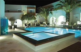 Nissaki Beach Hotel, Naxos, External view & pool